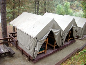 Deluxe Duplex Cabin Tent - 2 tents on one deck